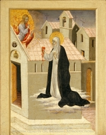 Saint Catherine of Siena Exchanging Her Heart with Christ painting reproduction, Giovanni Di Paolo