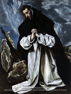 Saint Dominic in Prayer by El Greco