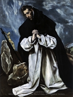 Saint Dominic in Prayer painting reproduction, El Greco