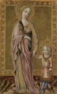 Saint Dorothy and the Infant Christ painting reproduction, Francesco Di Giorgio