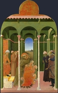 Saint Francis Before the Sultan painting reproduction, Sassetta