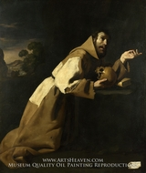 Saint Francis in Meditation by Francisco De Zurbaran