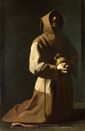 Saint Francis in Meditation painting reproduction, Francisco De Zurbaran