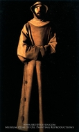 Saint Francis of Assisi by Francisco De Zurbaran