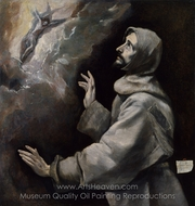 Saint Francis receiving the Stigmata painting reproduction, El Greco