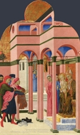 Saint Francis Renounces his Earthly Father painting reproduction, Sassetta