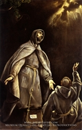 Saint Francis's Vision of the Flaming Torch by El Greco