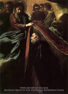 Saint Ildefonso Receiving the Chasuble by Diego Velazquez