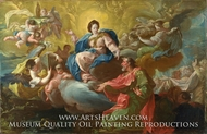 Saint James Being Visited by the Virgin painting reproduction, Francisco Bayeu Y Subias