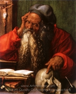 Saint Jerome painting reproduction, Albrecht Durer