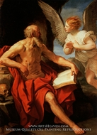 Saint Jerome and the Angel painting reproduction, Guido Reni