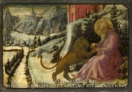 Saint Jerome and the Lion - Predella Panel by Filippino Lippi