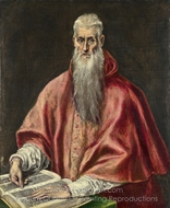Saint Jerome as a Scholar painting reproduction, El Greco