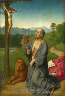 Saint Jerome in a Landscape painting reproduction, Gerard David