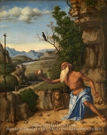 Saint Jerome in a Landscape by Giovanni Battista Cima Da Conegliano