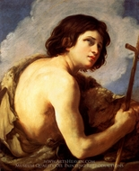Saint John the Baptist painting reproduction, Guido Reni
