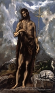 Saint John the Baptist by El Greco