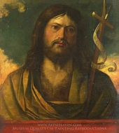 Saint John the Baptist painting reproduction, Giovanni Buonconsiglio