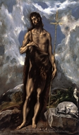 Saint John the Baptist painting reproduction, El Greco