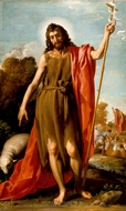 Saint John the Baptist in the Wilderness painting reproduction, Jose Leonardo