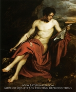 Saint John the Baptist in the Wilderness painting reproduction, Sir Anthony Van Dyck