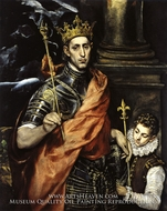 Saint Louis, King of France, with a Page by El Greco