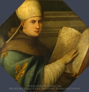 Saint Louis of Toulouse painting reproduction, Giovanni Antonio Pordenone