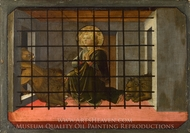 Saint Mamas in Prison thrown to the Lions painting reproduction, Filippino Lippi