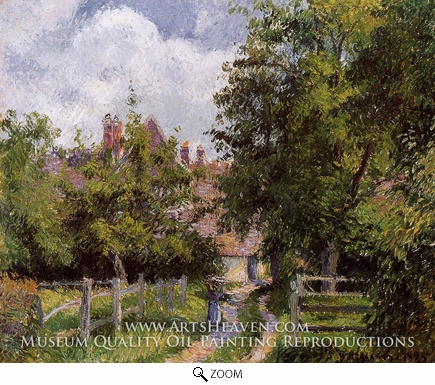 Painting Reproduction of Saint-Martin, near Gisors, Camille Pissarro