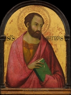 Saint Matthias painting reproduction, Simone Martini