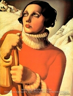 Saint Moritz painting reproduction, Tamara De Lempicka