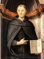 Saint Nicholas of Tolentino painting reproduction, Pietro Perugino