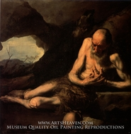 Saint Paul the Hermit painting reproduction, Jusepe De Ribera