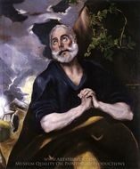 Saint Peter in Penitence painting reproduction, El Greco