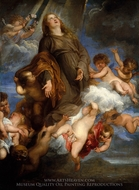 Saint Rosalia Interceding for the Plague-Stricken of Palermo painting reproduction, Sir Anthony Van Dyck