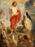 Saint Teresa of Avila Interceding for Souls in Purgatory painting reproduction, Peter Paul Rubens