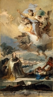 Saint Thecla Praying for the Plague-Stricken by Giovanni Battista Tiepolo