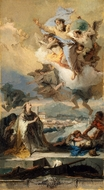 Saint Thecla Praying for the Plague-Stricken painting reproduction, Giovanni Battista Tiepolo