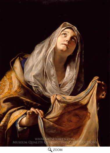 Painting Reproduction of Saint Veronica with the Veil, Mattia Preti