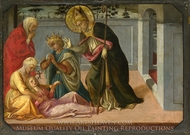 Saint Zeno exorcising the Daughter of Gallienus painting reproduction, Filippino Lippi