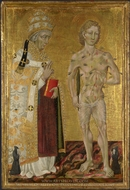 Saints Fabian and Sebastian painting reproduction, Giovanni Di Paolo