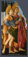 Saints Mamas and James painting reproduction, Filippino Lippi