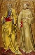 Saints Matthew and Francis by Giovanni Di Paolo