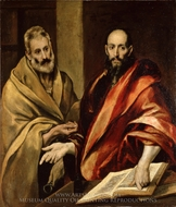 Saints Peter and Paul painting reproduction, El Greco