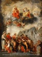 Saints Roch, Stephen, Lawrence, and Elizabeth Distributing Alms painting reproduction, Abraham Van Diepenbeeck
