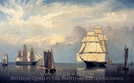 Salem Harbor painting reproduction, Fitz Hugh Lane