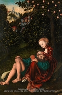 Samson and Delilah by Lucas Cranach