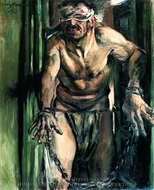Samson Blinded painting reproduction, Lovis Corinth