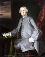 Samuel Cutts painting reproduction, Joseph Blackburn