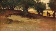 Sand Bank with Willows, Magnolia painting reproduction, William Morris Hunt